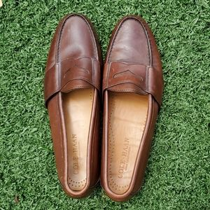 Cole Haan Men's Brown Leather Loafers